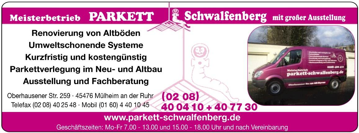Parkett Schwalfenberg Partner des 1. FC Mülheim