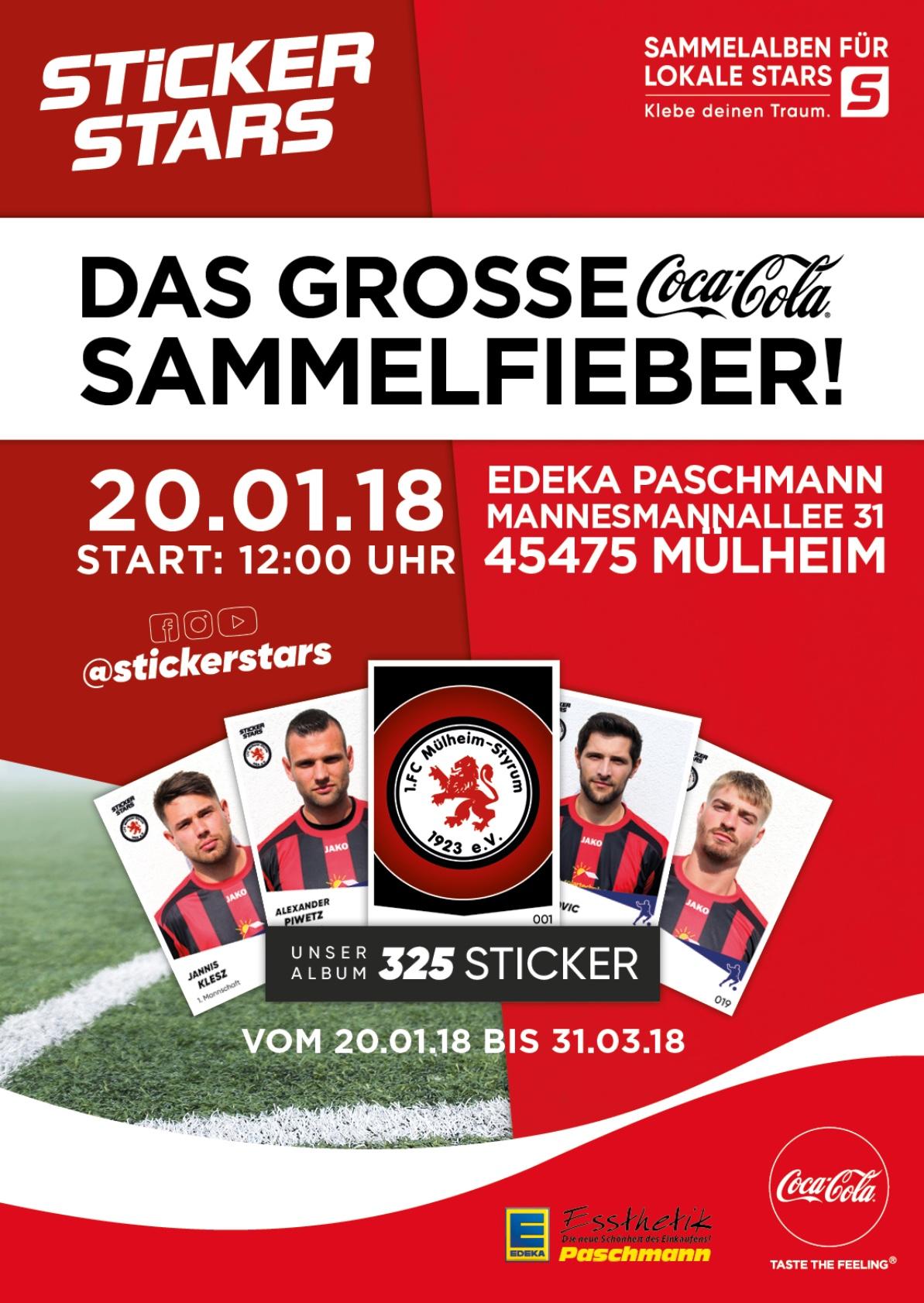 Stickerstars präsentiert den 1. FC Mülheim
